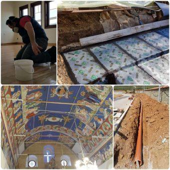 Εργασίες συντήρησης σε εγκαταστάσεις Ιεράς Μονής στην Ορμύλια Χαλκιδικής