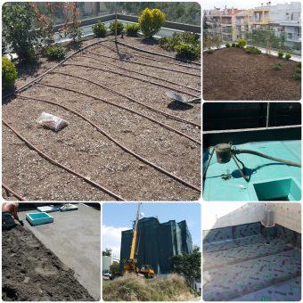 Σχεδιασμός και κατασκευή φυτεμένου δώματος σε μονοκατοικία στην Καλαμαριά