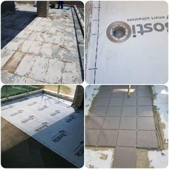 Αποκατάσταση και στεγανοποίηση δώματος με τελική επίστρωση πλακιδίων σε μονοκατοικία στην Θεσσαλονίκη