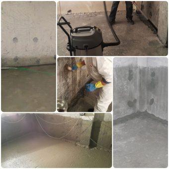 Στεγανοποίηση υπογείου με το σύστημα της εταιρείας Penetron στα υπόγεια συγκροτήματος μεζονετών στην Κασσανδρεία Χαλκιδικής