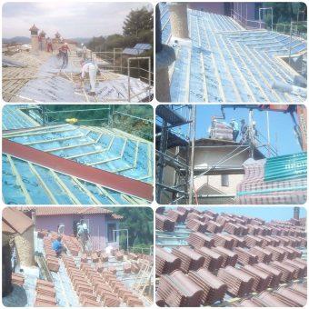 Αντικατάσταση με ταυτόχρονη στεγανοποίηση και θερμομόνωση στέγης στη Χαλκιδική
