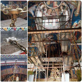 Ενίσχυση στηρίξεων πολυέλαιου σε τρούλο Ιερού Ναού στην Χαλκιδική