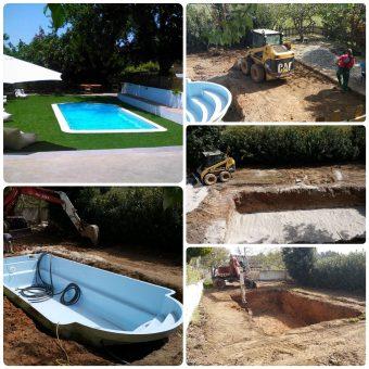 Τοποθέτηση πισίνας και ανακατασκευή περιβάλλοντος χώρου σε ξενώνα στο Βατοπέδι Χαλκιδικής