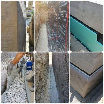 Στεγανοποίηση και θερμομόνωση υπογείου με ταυτόχρονη προστασία ραδονίου και δημιουργία αποστραγγιστικού δικτύου σε υπόγειο οικοδομής στην Καλαμαριά