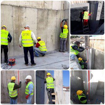 Στεγανοποίηση υπόγειων τοιχίων σκυροδέματος με το σύστημα της εταιρείας Penetron και σφράγιση κτιριακών αρμών σε ξενοδοχείο στο Πευκοχώρι Χαλκιδικής